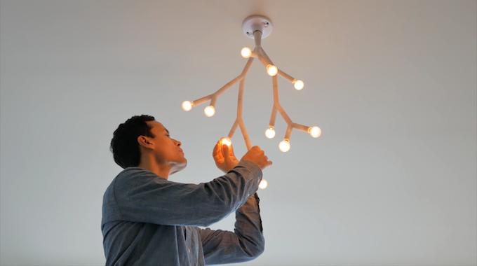 Splyt light by splyt kickstarter building a splyt chandelier from a ceiling light socket mozeypictures Images