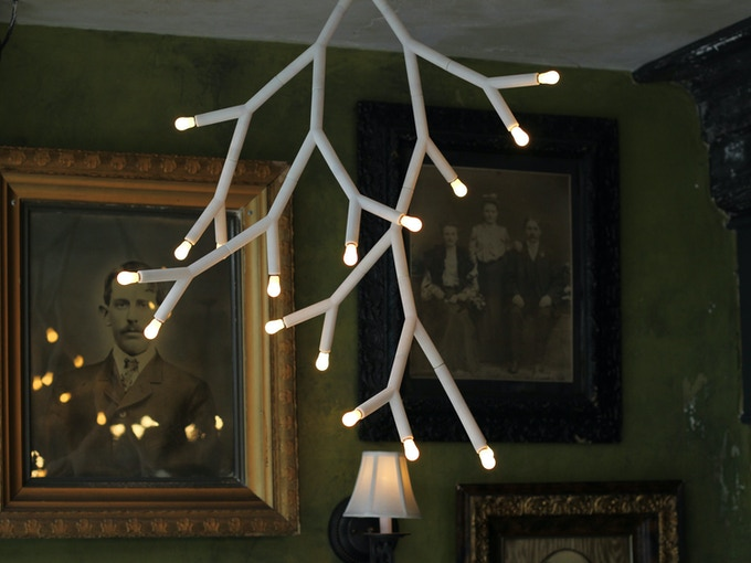 Putnam's Splyt chandelier uses all Large Y pieces