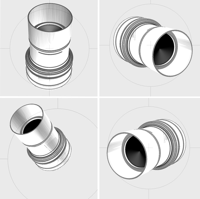 First 3D renderings of The Daguerreotype Achromat Art Lens