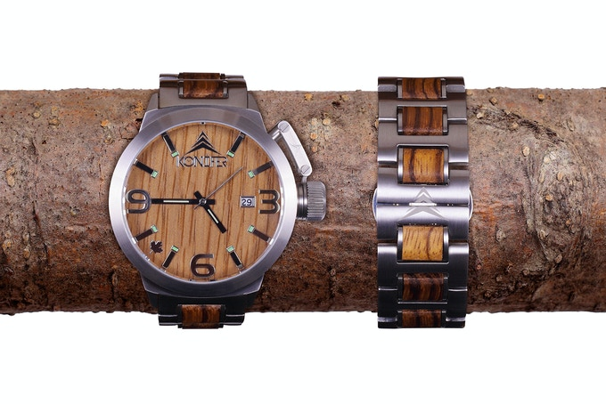Stainless steel + Zebrawood