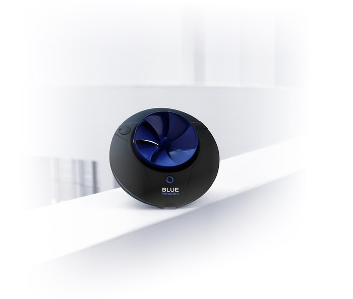 Utilizing the power of flowing water, Blue Freedom produces portable energy to charge all your electric devices.