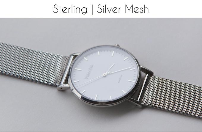 Silver hands | Polished steel case | Polished steel mesh