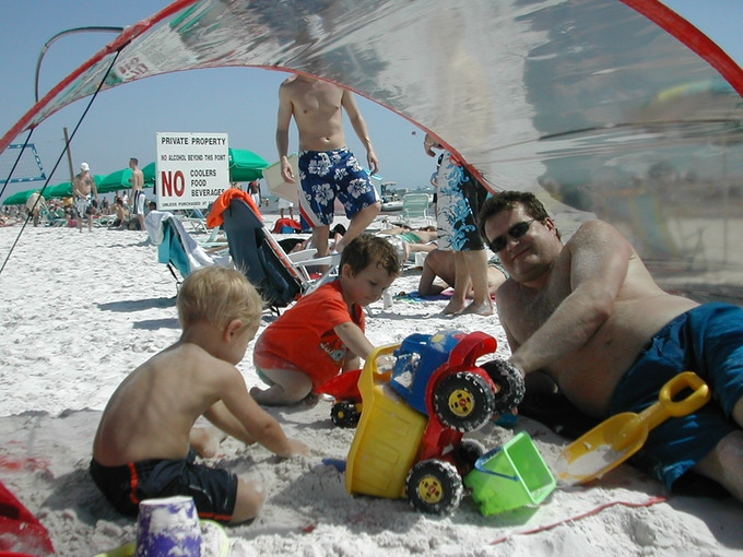 Young and Old at Fort Myers Beach, Florida