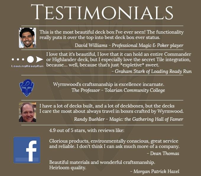 More reviews at www.Facebook.com/WyrmwoodGaming
