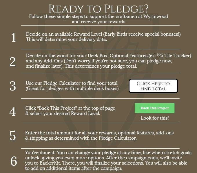 Click above for our helpful Pledge Calculator