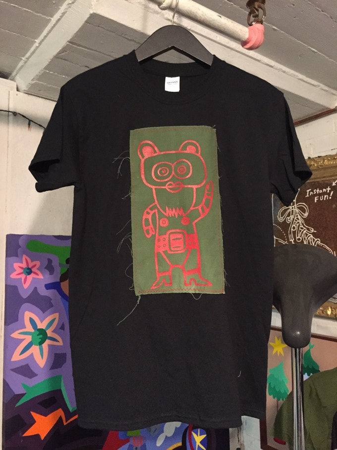 """UPcycled """"REshirt"""" printed and sewn by Phil Cheney."""