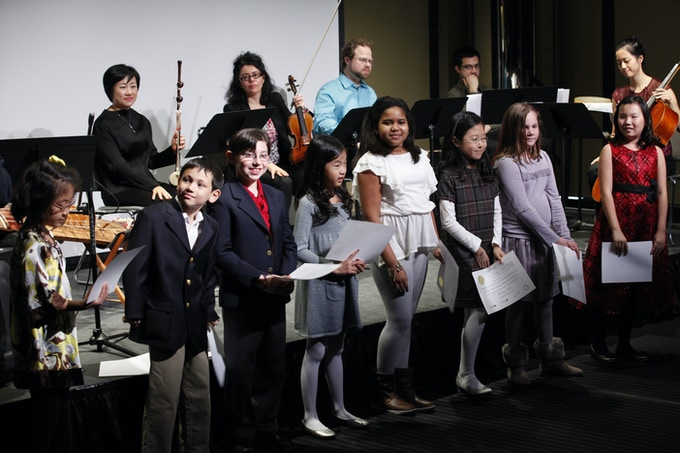 Working with Philharmonic Teaching Artists, Very Young Composers compose their very own music for Philharmonic musicians to play!