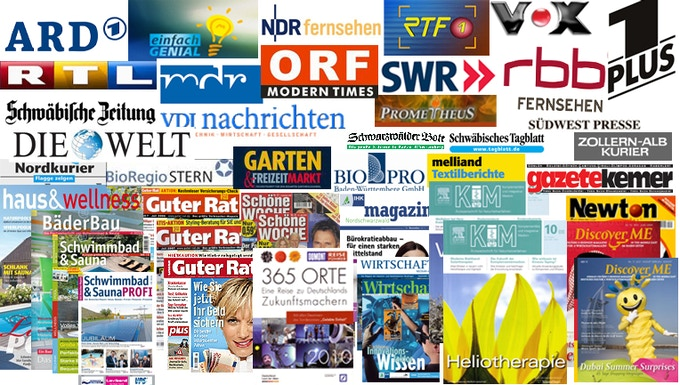 (TV, radio, specialized & yellow press, scientific & consumer magazines, newspaper)