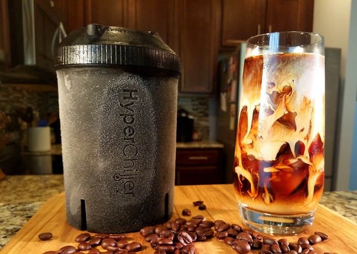 Turn fresh hot coffee into perfect iced coffee in one minute! The HyperChiller cools hot coffee by up to 130+ degrees in 60 seconds with zero dilution... no more waiting, no more complex recipes, JUST RESULTS!
