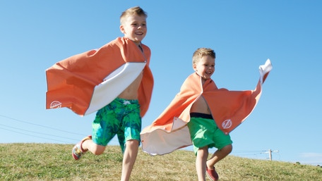 The world's most fun and useful towels for kids. Microfiber kids beach towels.