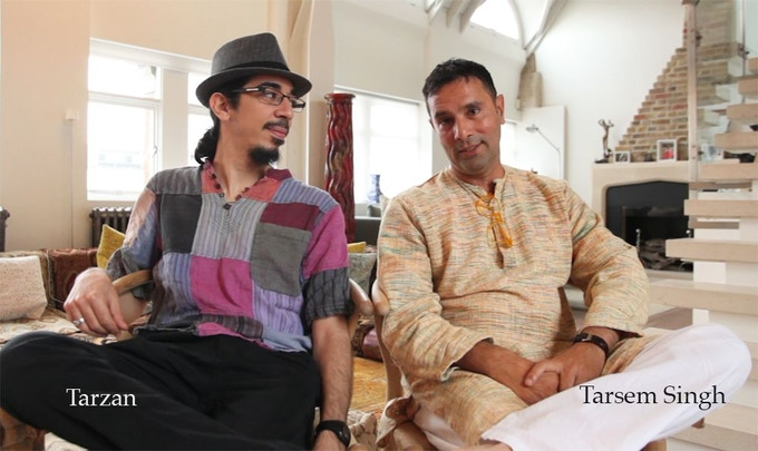 The director of the play, Tarzan, alongside Tarsem Singh, the director of the film
