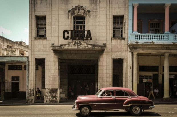 Speeding by the Cuba sign!