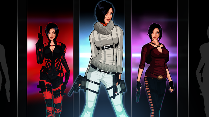 Alternate costumes for Hana