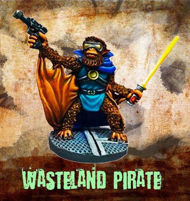 Wasteland Pirate with gun and electric stun baton