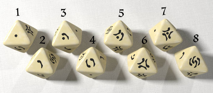 bone origins polyhedral dice by gary butler kickstarter