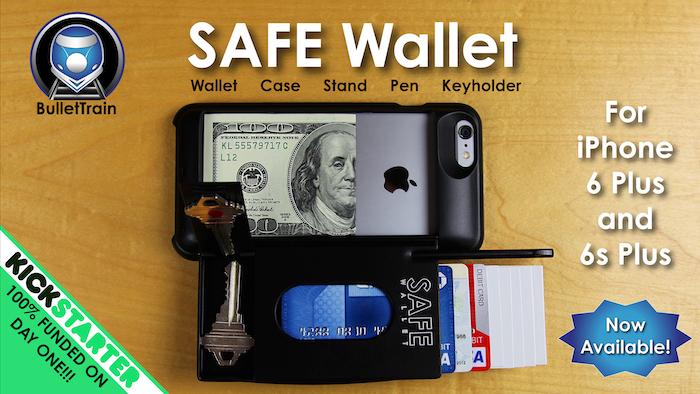 huge discount a9d69 affba SAFE Wallet Case for iPhone 6 Plus by BulletTrain — Kickstarter