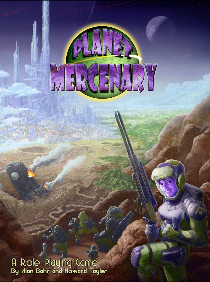 A tabletop RPG by Alan Bahr and Howard Tayler, and set in the Space Opera universe of SCHLOCK MERCENARY