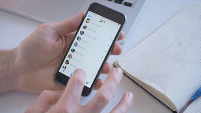 Selecting Your Contacts Through the App.