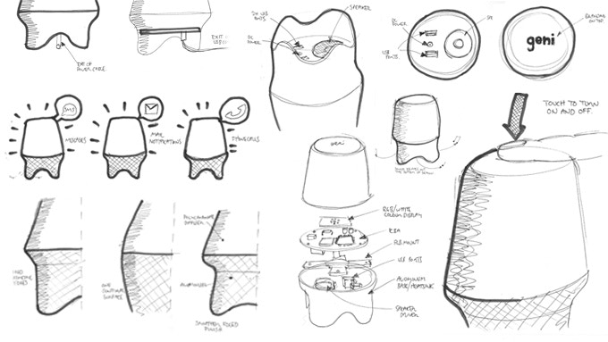 Some of Our Initial Sketches.