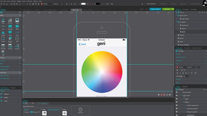 Design of App Storyboard.