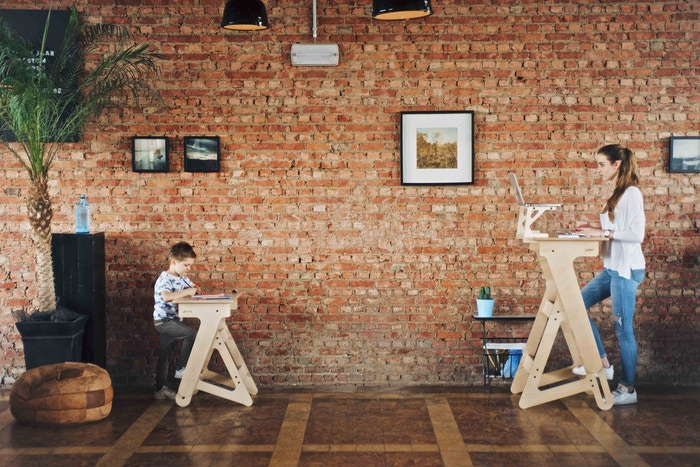 Height Adjule Wooden Standing Desk