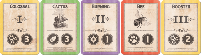 The Roman numerals help you figure out where each concept card goes. Asset cards always go in-between two concept cards.
