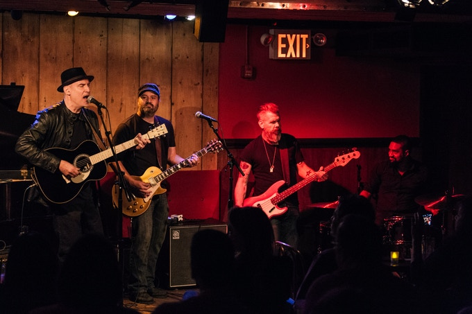 Me and the band in NYC at the Rockwood Music Hall