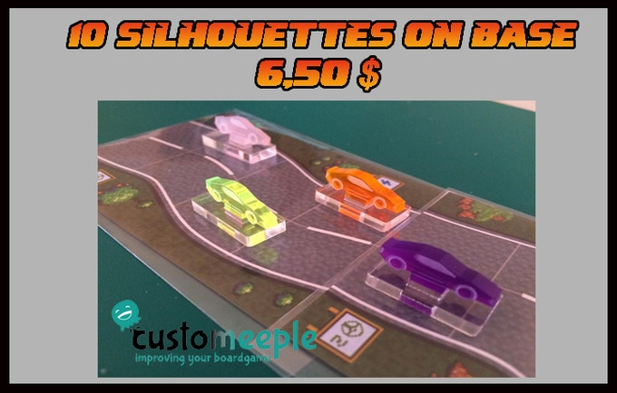 10 silhouettes in different colors of our racing cars DD´