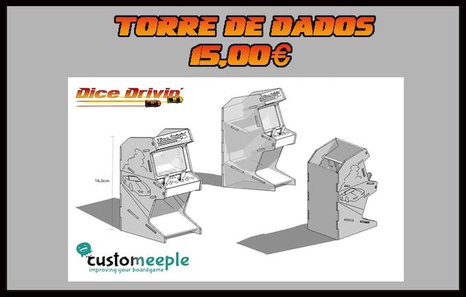 Torre de dados Arcade, fabricado en DM, diseño Serigrafiado, pantalla trasparente, se entrega sin pintar (16 -8,5 - 6,5 cm)