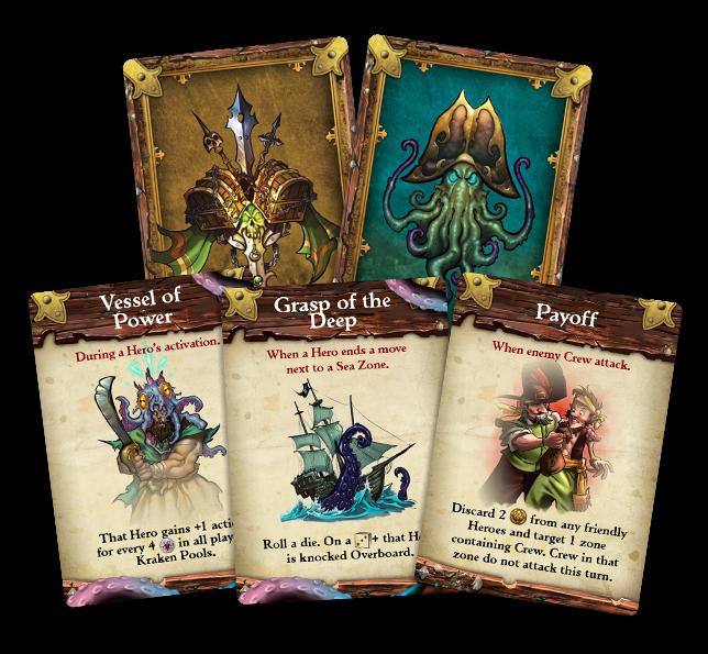 Each Crew has their own unique, 30 card, Tide Deck!