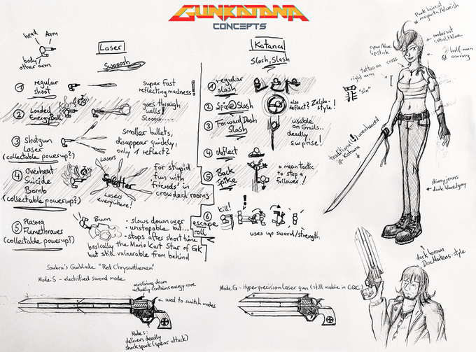 Take a peek at our game design sketches!