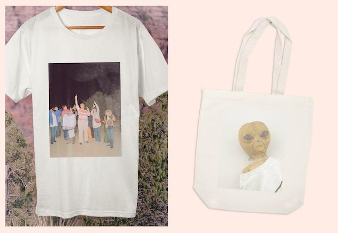T-shirt and tote-bag.