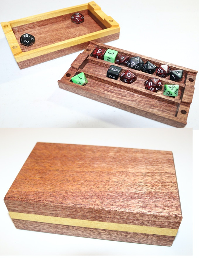 This example was done with mahogany and yellow heart.