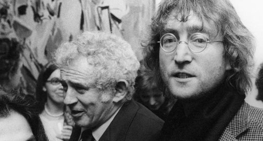 Barney Rosset's Luciferian buddies, alpha male gorilla/novelist Norman Mailer and...John Lennon