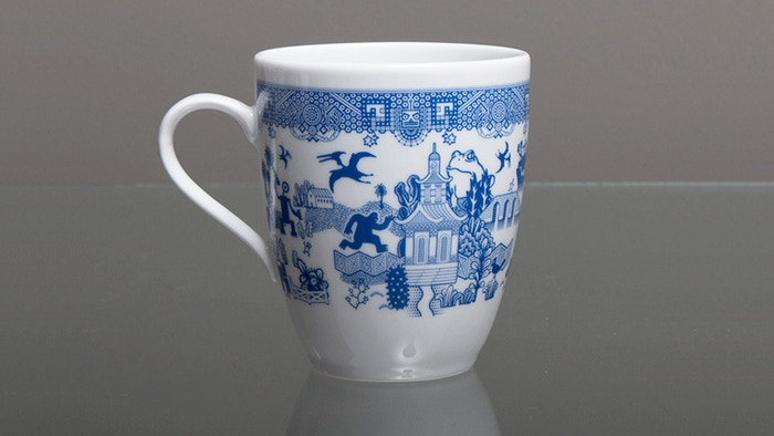 No matter how bad your day is going, these beautiful porcelain Calamityware mugs graciously remind you things could be much worse.