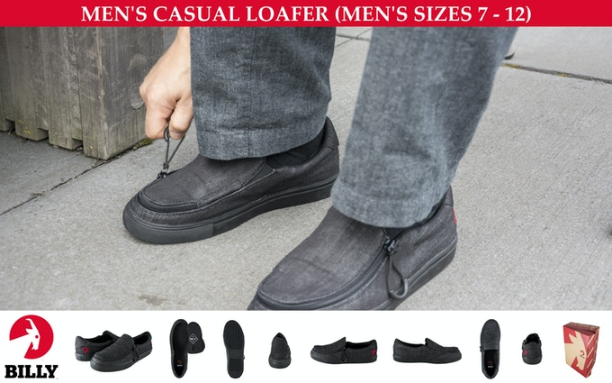 ADULT SHOE (DENIM MATERIAL) — CASUAL LOAFER — MEN'S SIZES 7-12