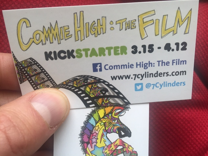 """Campaign cards to help support """"Commie High: The Film"""""""