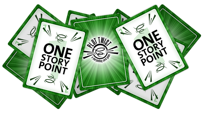 Each Storyteller gets three Story Point Cards to use for voting in each round – voting is weighted, so feel free to give all three to one story, or spread the wealth around!