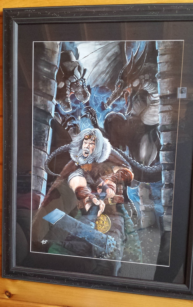 Dragonhold Original Signed Cover Painting