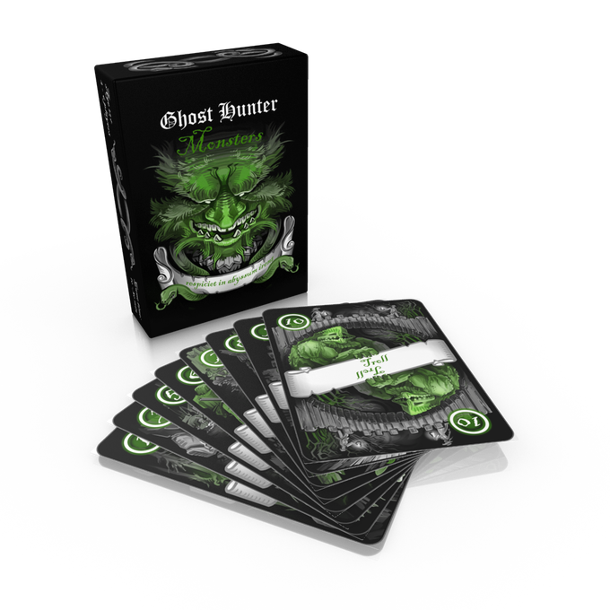 GH: Monsters is a 54 card deck and a tuck box