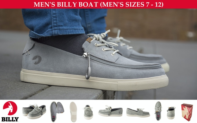 ADULT SHOE (SUEDE MATERIAL) — BILLY BOAT — MEN'S SIZES 7-12