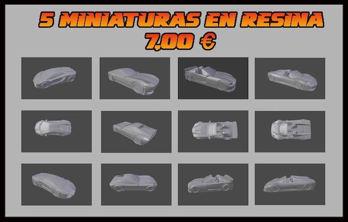 Baby Rocket, Electric Rush, Flashing Ace, Red Hawk and Police Car* //  * falta diseño de la miniatura Police Car