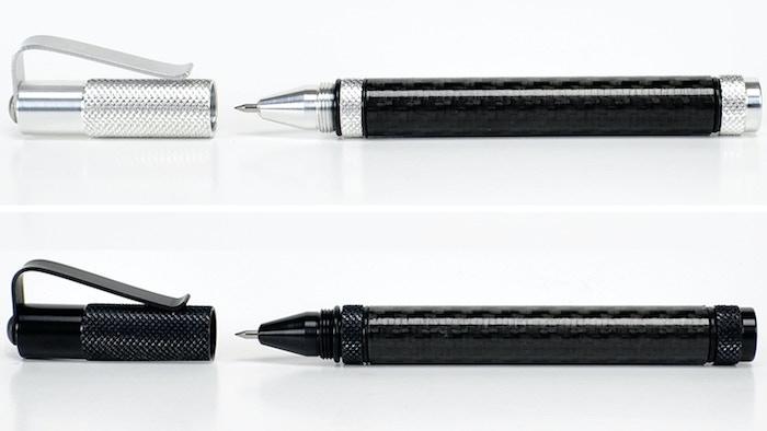 A tough, lightweight Carbon Fiber writing pen that uses the Pilot G2 refill. 2024 and 6061 Aluminum with Carbon Fiber barrel.