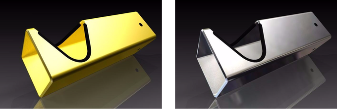 Get your D-RACK now in a unique surface finish in GOLD (499€) or in CHROME (349€)