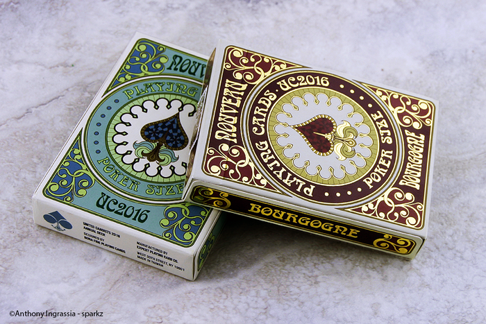 Discover the original heroes and heroines inspired by 16c French decks with NOUVEAU, official 2016 United Cardists Annual deck