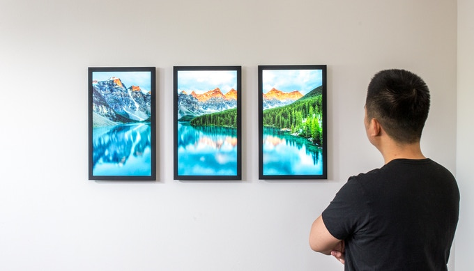 Three is better than one! Use a triptych to fill a larger wall.