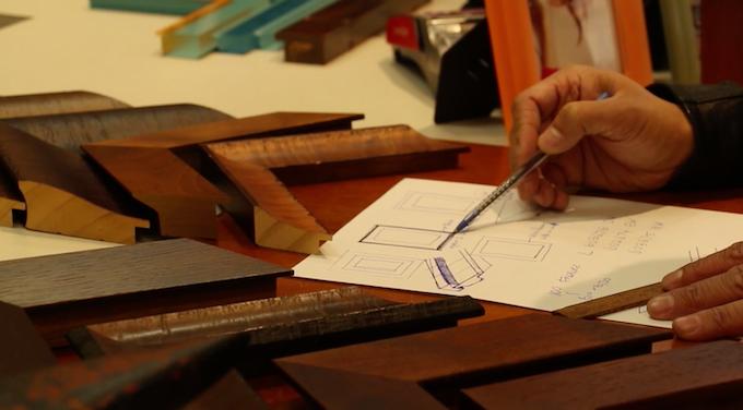 Custom framing involves an understanding of materials