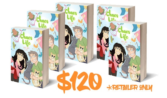 Retailer Special! Get FIVE PAPERBACK COPIES of ChaosLife: Queers, Comics, and Cats! Must be able to verify retailer status.