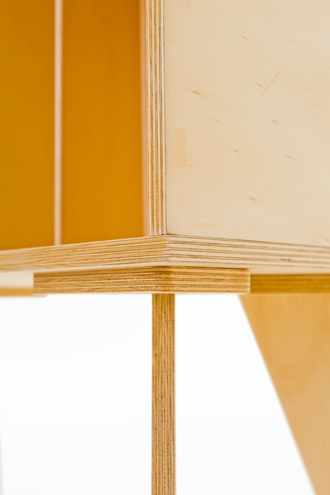 LP1 Record Cabinet Wood detail