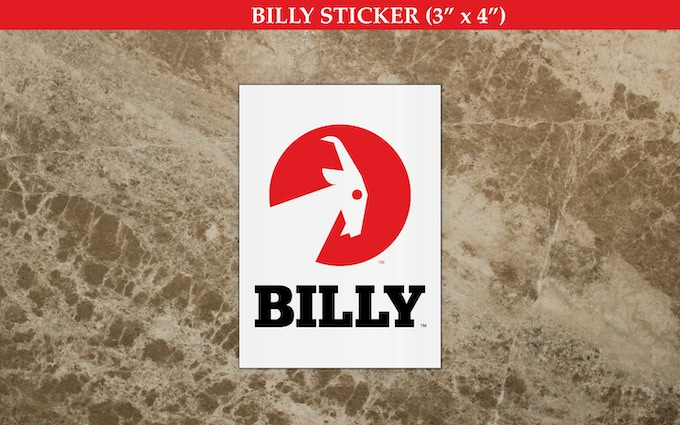 """BILLY Stickers (3"""" x 4"""") (Part of the """"Thank You Pack"""")"""